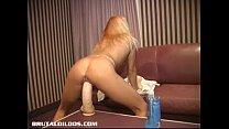Hd clips br - Amateur petite Quebec blonde brutalized by huge dildos thumbnail