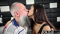 11516 Young Busty Teen Takes Facial Cumshot From Grandpa In Old Young After Sex preview