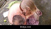 Incredible Sex Between Sweet Teenager And Old B