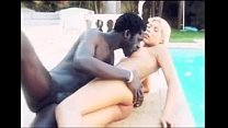 blonde shemale fucked by black dude