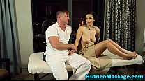 Busty milf banged doggystyle by her masseur