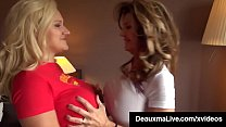 Busty Cougars Deauxma & Dolly Fox Compare Their Big Tits! Vorschaubild