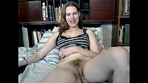 Busty cutie toys her hairy pussy on webcam's Thumb