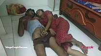 desi Indian telugu couple fucking on the floor