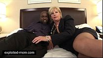 Old mature mommy banged by a Big Black Cock in Interracial Video thumbnail