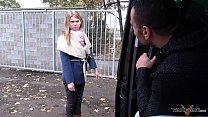 Takevan Stranger offer a ride to cute lost blonde and fuck her in driving van Vorschaubild