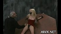 In nature's garb chicks roughly playing in bondage xxx dilettante video Thumbnail