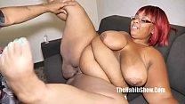 sexy thick red Macchiato BBW takes BBC Redzilla