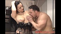 Busty Brunette Claudia Takes A Ride On Cock
