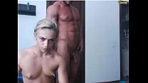 Gorgeous couple of bodybuilders on web-cam /no sex /no sound صورة