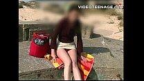 teen Charlene upskirt outdoor
