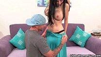 Busty milf Francesca Leon gets the cock treatment Thumbnail