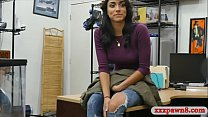 Pretty woman drilled by pervy pawn man at the pawnshop