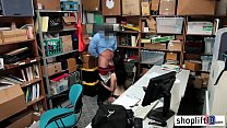 Petite big tits brunette MILF busted by a bad policeman - sexkathaikal thumbnail