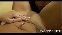 Appealing teen with thick gazoo knows how to handle a thick prick thumbnail