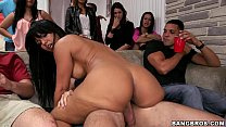 Dorm sex party with Capri Cavalli, Jamie Valentine, Rose Monroe, and Teal Conrad thumbnail