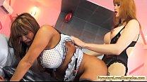 Big tits shemale Eva Lin fucks huge jugs MILF Ava Devine pornhub video