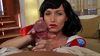 Snow White Oily HANDJOB On Big Dick! POV With K