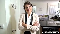 Sexy realtor pounded by stranger
