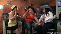 Bbw girls have fun in the bar thumbnail