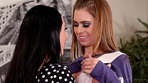 Realistic Maid Android Learns About Lesbian Love - Angela White and Jill Kassidy صورة
