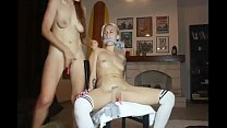Hot babe masturbate hard and squirt on her tied...