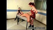 2 Mistresses Fuck a Slave Bitch! thumb