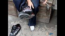 Str8 Boy Foot Show Outdoors