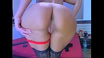 Busty MILF Strips  Toys her round buttocks -tinycam.org
