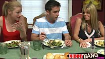 Busty stepmom Kristal Summers threesome with teen couple