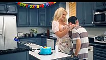 19075 MILF has fun with Teen in Her kitchen preview