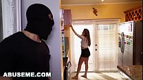 Girlfriend gets fucked by burglar
