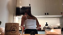 Perfect Pokies on the Kitchen Cam, Braless Sylvia and her Amazing Nipples Image