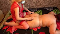 A sexy masseuse in early pregnancy massages a fat lesbian and with a big ass. • pornpic video thumbnail