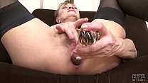 Granny interracial hardcore sex getting double penetrated because she is a horny old lady craving big black cock in her ass and pussy thumbnail