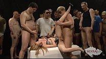 18yo veronika with 50 guys in bukkake gangbang part 2 - freevidiosex thumbnail