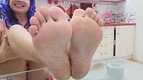 POV - give me your sperm on my feets!