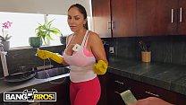 BANGBROS - Hot Latina Maid Marta La Croft Gargles On Huge Cock