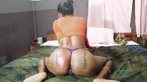 African Girl With Fat Ass Masturbates And Fuck
