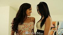 Passion-HD - Two georgous brunettes are fucked in a threesome thumbnail