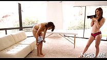 Beauties arrange a stunning casting session playing with dick
