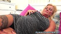 Spunk mouthed granny blow thumbnail