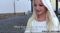 Blondie Czech babe screwed for some cash