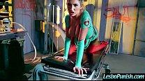Using Sex Toys Mean Lez Punish Hard A Lesbo Girl (august&starri) video-08