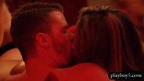 Amateur swinger couples having an orgy in the Playboy house Vorschaubild