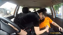 Tattooed teen Julia railed by instructor preview image