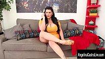 Cuban Cocksucker Angelina Castro Gets Her Big Tits Glazed