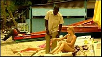 Young blonde white girl with black lover - Inte...