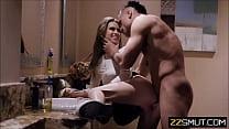 Teen waitress seduces married Boss