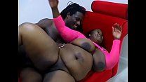 He opens Subrina Love's thick legs and eats out her black pussy's Thumb